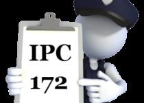 IPC Section 172 in Hindi | Dhara 172 IPC | आई०पी०सी की धारा 172 में क्या अपराध होता है