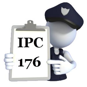 IPC Section 176 in Hindi | Dhara 176 IPC | आई०पी०सी० की धारा 176 में क्या अपराध होता है