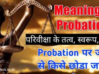 परिवीक्षा से आप क्या समझते हैं | What do you understand by 'Probation'